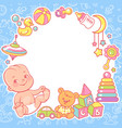 bashower design template baboy with toy vector image vector image