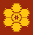 bee on honeycombs vector image vector image