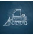 bulldozer icon vector image vector image