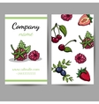 Business Cards With Berries vector image