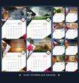 calendar for 2019 year vector image