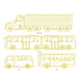 car body style outline public transport and vector image vector image