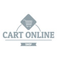 cart online logo simple gray style vector image vector image