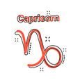 cartoon capricorn zodiac icon in comic style vector image vector image