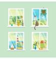 Cartoon Windows Different View Set vector image vector image