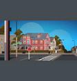 city facade buildings empty no people urban street vector image vector image