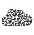 cloud collage of graduation cap icons vector image