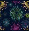 color celebration fireworks background pattern vector image vector image