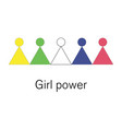 colorful geometric women figures girl power vector image vector image