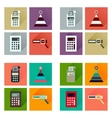 Concept of flat icons with long shadow finance vector image vector image