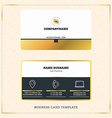Creative Golden Business Visiting Card Design vector image vector image
