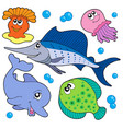 cute marine animals collection 2 vector image