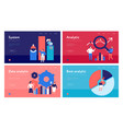 data analysis concept banners vector image vector image