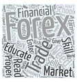 education in forex trading Word Cloud Concept vector image vector image