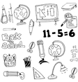 Education toool set in doodle vector image vector image