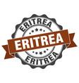 eritrea round ribbon seal vector image vector image
