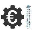 Euro Development Gear Icon With Copter Tools Bonus vector image vector image