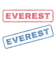everest textile stamps vector image