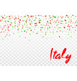 falling confetti colors flag italy vector image vector image