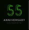 fifty five fifty fifth anniversary poster for vector image vector image
