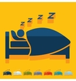 Flat design sleep vector image