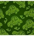 Go Green Car Seamless Pattern vector image vector image