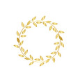 golden laurel or olive award wreath vector image vector image