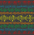 hand drawn colorful pattern with ethnic motifs vector image