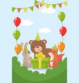 happy birthday party invitation with date flyer vector image