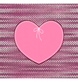 Heart Shape Design with Knitted Pattern vector image vector image