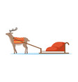 horth reindeer animal with sleigh vector image