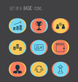 human icons set collection of manager talking vector image vector image