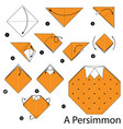Instructions how to make origami a persimmon
