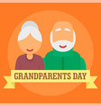 international day of grandparents background flat vector image