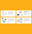internet banner set marketing social media and vector image