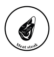 Meat steak icon vector image vector image
