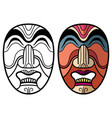 mexican indian aztec traditional masks vector image