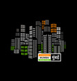 mumbai is a city skyscrapers one vector image