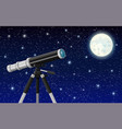 observation through spyglass vector image vector image