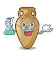 professor amphora character cartoon style vector image vector image