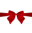 red gift bow of ribb vector image vector image