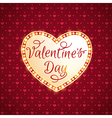 Retro shining heart for Valentines day vector image vector image