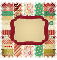 Scrap background made in the classic patchwork vector image