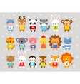 Set of animals in cartoon style vector image vector image