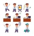 Set of Businessman Activities vector image