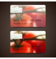 Set of gift cards with blurred background of red vector image vector image
