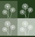 set of three dandelions vector image