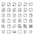 simple document thin line icons set vector image vector image