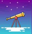 thin line design of telescope vector image