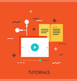 tutorials flat concept vector image